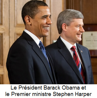Barack Obama et Stephen Harper