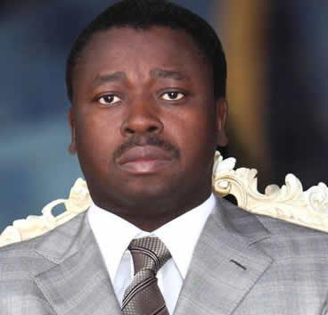 Le Présient togolais Faure Gnassingbé